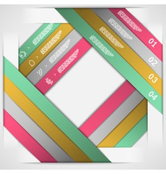Paper strips choice template vector