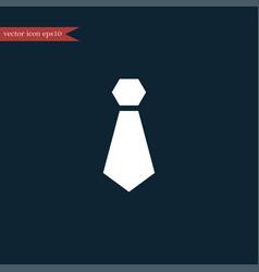 Tie icon simple vector