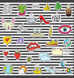 108 patches vector image