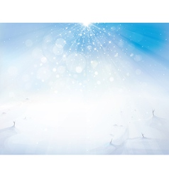 Winter sky snow vector
