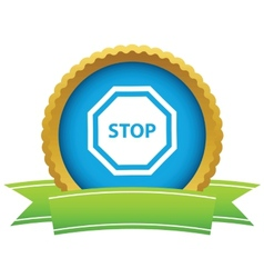 Gold stop logo vector