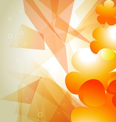 Orange color abstract background vector
