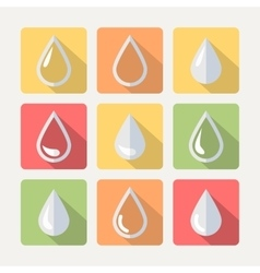 Flat drop set vector