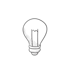 Lightbulb sketch icon vector