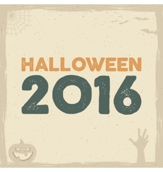 Happy halloween poster template with holiday vector