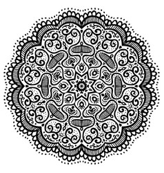 Abstract round pattern oriental mandala vector