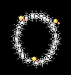 Abstract star O alphabet character vector image vector image