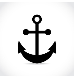 an anchor on white background vector image vector image