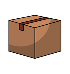 Box carton isolated icon vector