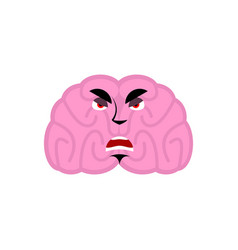 Brain angry emotion human brains emoji evil vector