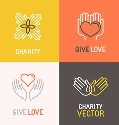 charity and volunteer concepts vector image vector image