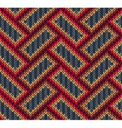 Color Knitwear Seamless Pattern vector image vector image