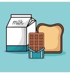 Delicious breakfast ingredients icons vector
