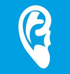 Ear icon white vector
