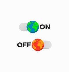 earth off on slider vector image