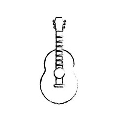 Figure guitar musical instrument to play music vector