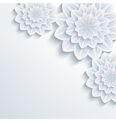 Floral romantic background with 3d flower vector image