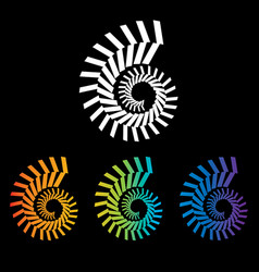 four colorful nautilus spirals to choose from vector image