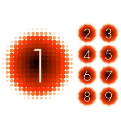 halftone numbers vector image vector image