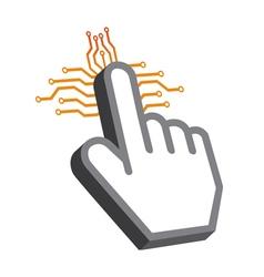 Hand tech design vector