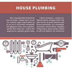 House plumbing information board vector