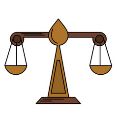 justice scale law symbol vector image