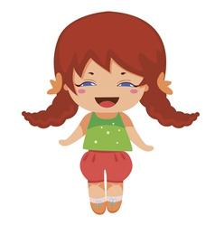 Kawaii baby princess vector