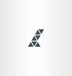 letter l triangles icon symbol vector image vector image