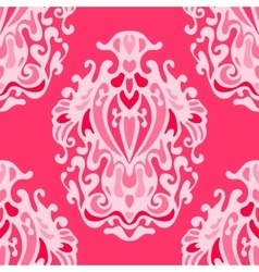 luxury pink damask seamless pattern vector image