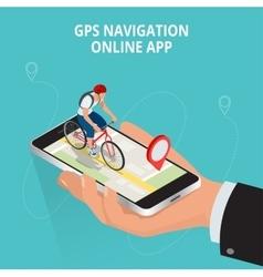 Mobile GPS navigation travel and tourism concept vector image
