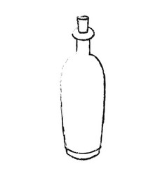 Monochrome blurred silhouette with spa bottle with vector