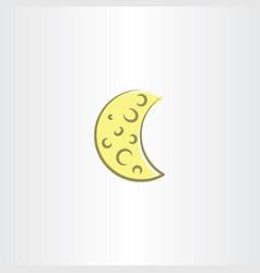 Moon icon symbol element design vector