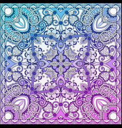 Paisley bandanna to print on fabric vector