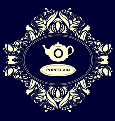 Porcelain vector image vector image