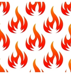 Red and orange fire flames seamless pattern vector