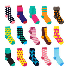 socks in cartoon style elements of kids clothes vector image