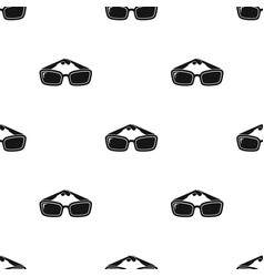sunglasses icon in black style isolated on white vector image vector image