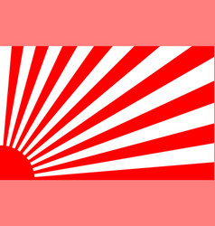 Sunrise background with japan style vector