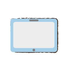 Tablet technology sketch vector