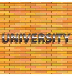 universiry sign vector image