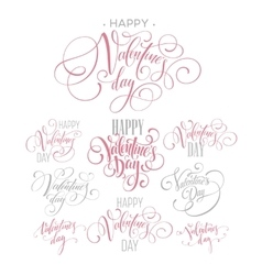 Valentines day and love lettering collection vector