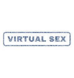 virtual sex textile stamp vector image