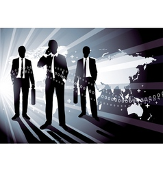 world business concept vector image vector image