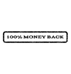 100 percent money back watermark stamp vector