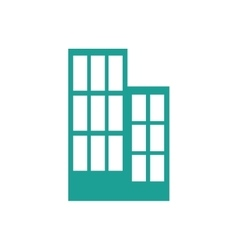 Building blue real estate tower icon vector