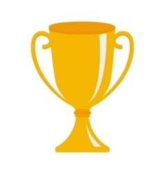 Trophy winner championship isolated vector