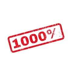 1000 percent text rubber stamp vector