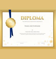 Elegant diploma certificate template vector