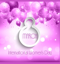 balloons womens day background vector image