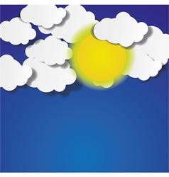 Abstract Clouds and the Sun Background vector image